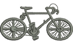 Touring Bicycle embroidery design