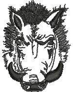 Razorback embroidery design