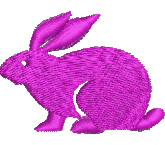 Pink Rabbit embroidery design