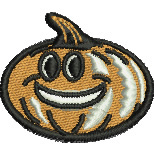 Happy Pumpkin embroidery design