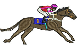 Horse Races embroidery design