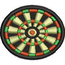 Dartboard embroidery design
