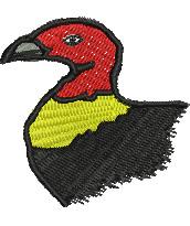 Aussie Bush Turkey embroidery design