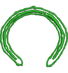 Horseshoe embroidery design