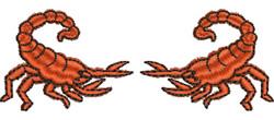 Scorpions embroidery design
