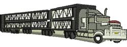 Road Train embroidery design
