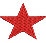 Red Star embroidery design