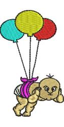 Balloon Baby embroidery design