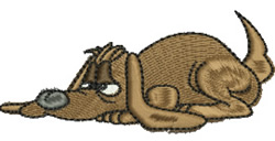 Hound Dog embroidery design