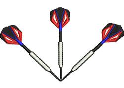 Three Darts embroidery design