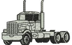 No Trailers Truck embroidery design
