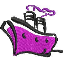 Ocean Liner embroidery design