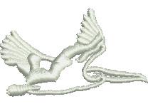 Pelican embroidery design