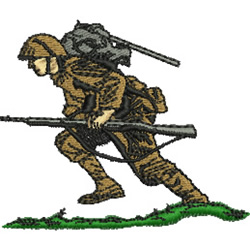 Soldier embroidery design