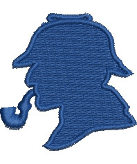Sherlock Holmes embroidery design