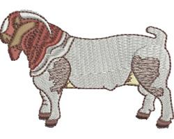 Boer Goat embroidery design