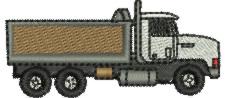 Dump Truck embroidery design
