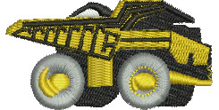 Dump Truck embroidery design