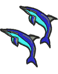 Leaping Dolphins embroidery design