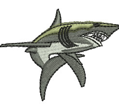 Great White Shark embroidery design