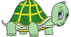 Turtle Cartoon embroidery design