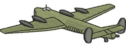 WWII Bomber embroidery design