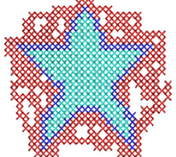 Cross Stitch Star embroidery design