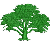Large Tree embroidery design