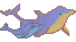 Cross Stitch Dolphin embroidery design
