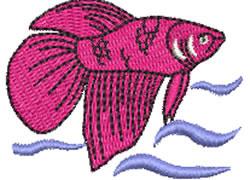 Betta Fish embroidery design