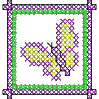 Butterfly Cross Stitch embroidery design