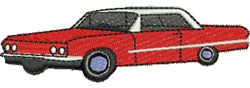Sixties Car embroidery design