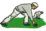 Lawn Bowlers embroidery design
