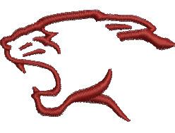 Cougar Head embroidery design