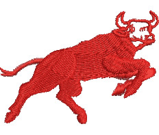 Stampeding Bull embroidery design