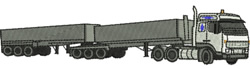 Truck and Trailers embroidery design