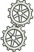 Gears embroidery design