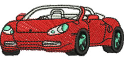 Sports Car embroidery design