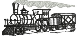 Puffing Billy embroidery design