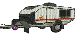 Camping Trailer embroidery design