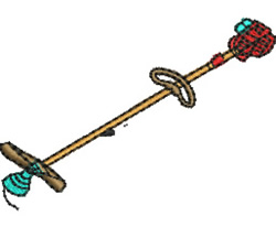 Weed Whacker embroidery design