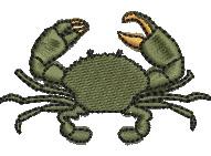 Crab embroidery design