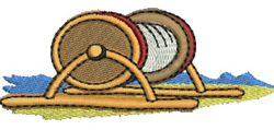 Surf Reel embroidery design