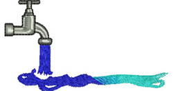 Water Faucet embroidery design