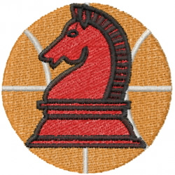 Basketball  Knight embroidery design