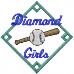 Diamond Girls embroidery design