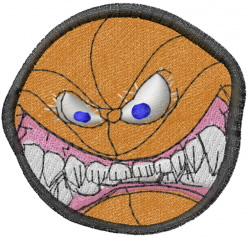 Mean Basketball embroidery design