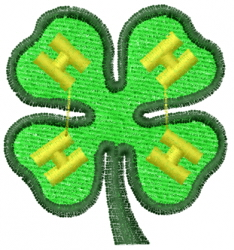 4-H Clover embroidery design