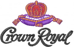 Crown Royal embroidery design