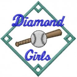Diamond Girls embroidery design